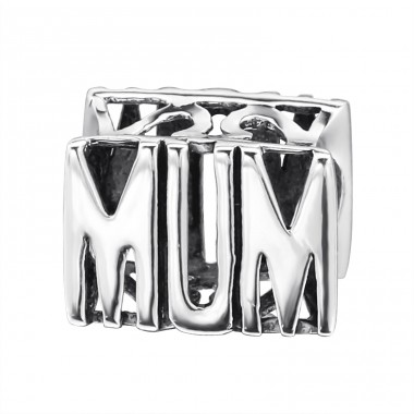 Mum - 925 Sterling Silver Beads without stones A4S12759