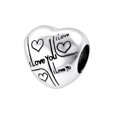 Heart - 925 Sterling Silver Beads without stones A4S12935