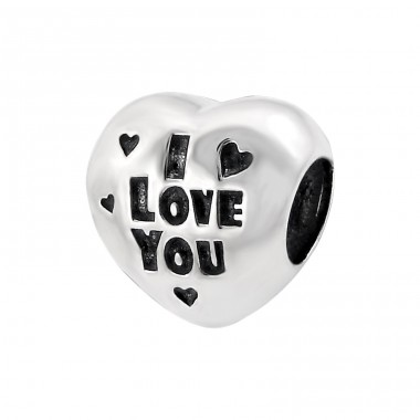 Heart I Love You - 925 Sterling Silver Beads without stones A4S13028