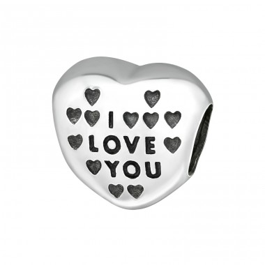 Heart I Love You - 925 Sterling Silver Beads without stones A4S13030