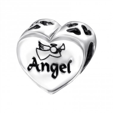 Heart Angel - 925 Sterling Silver Beads without stones A4S13032