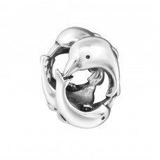 Dolphin - 925 Sterling Silver Beads without stones A4S13409