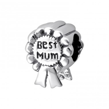 Best Mum Award - 925 Sterling Silver Beads without stones A4S13785