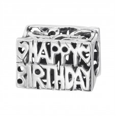 Happy Birthday - 925 Sterling Silver Beads without stones A4S13790