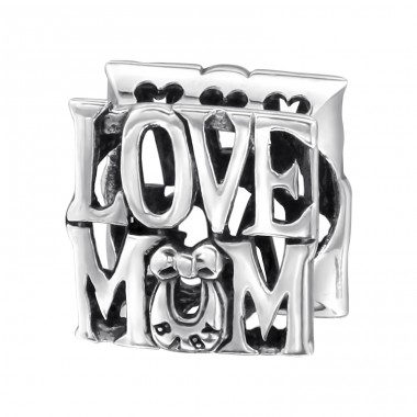 Love Mum - 925 Sterling Silver Beads without stones A4S13791