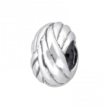 Stripped - 925 Sterling Silver Beads without stones A4S13994