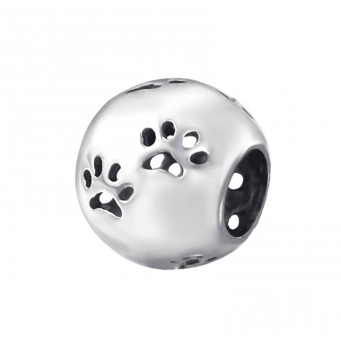 Dog Footprint - 925 Sterling Silver Beads without stones A4S14026