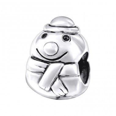 Snowman - 925 Sterling Silver Beads without stones A4S14116