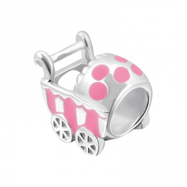 Baby Carriage - 925 Sterling Silver Beads without stones A4S14193