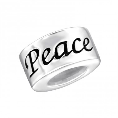 Peace - 925 Sterling Silver Beads without stones A4S14196