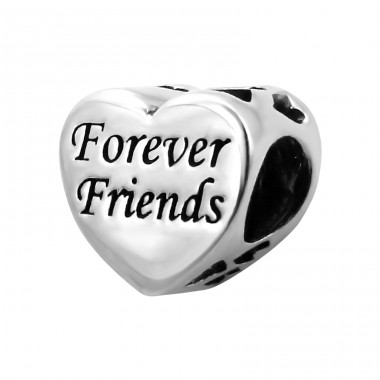 Heart Forever Friends - 925 Sterling Silver Beads without stones A4S14707