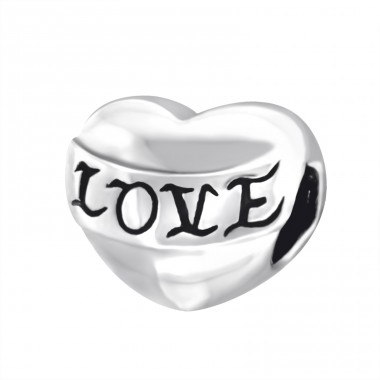 Heart Love - 925 Sterling Silver Beads without stones A4S14936