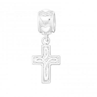 Hanging Cross - 925 Sterling Silver Beads without stones A4S15740