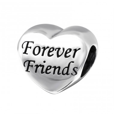 Heart Forever Friends - 925 Sterling Silver Beads without stones A4S15962