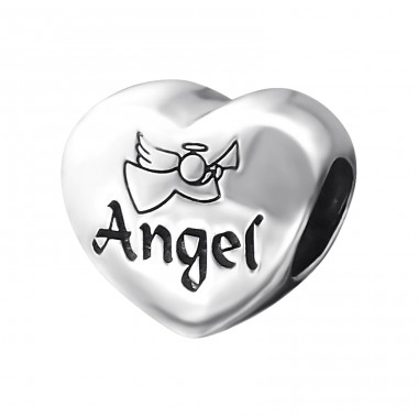 Heart Angel - 925 Sterling Silver Beads without stones A4S15963