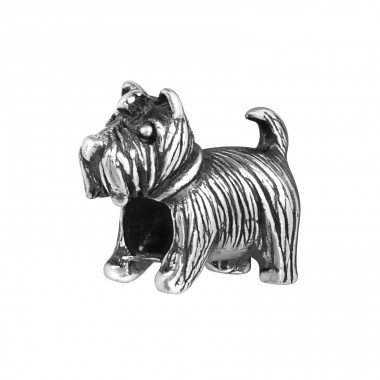 Dog - 925 Sterling Silver Beads without stones A4S16830