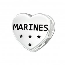 Heart Marines - 925 Sterling Silver Beads without stones A4S17103