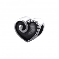 Heart - 925 Sterling Silver Beads without stones A4S17129