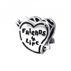 Heart Friends - 925 Sterling Silver Beads without stones A4S17132