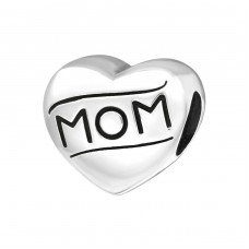Heart Mom - 925 Sterling Silver Beads without stones A4S17133