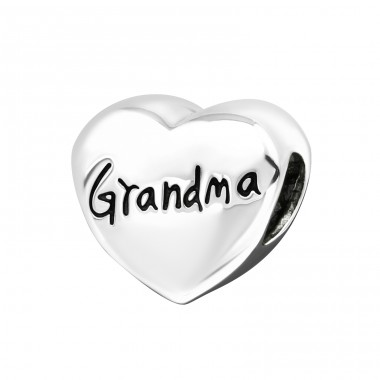 Heart Grandma - 925 Sterling Silver Beads without stones A4S17135