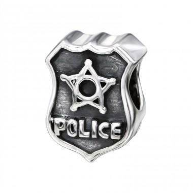 Police Mark - 925 Sterling Silver Beads without stones A4S17234
