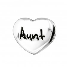 Heart Aunt - 925 Sterling Silver Beads without stones A4S17236