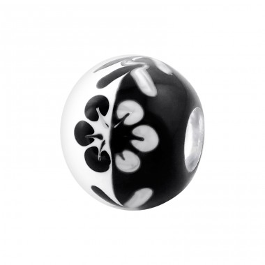 Flower - 925 Sterling Silver Beads without stones A4S18015
