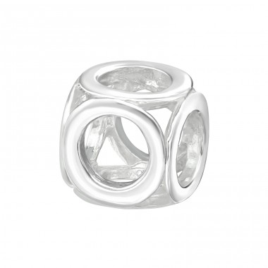 Round - 925 Sterling Silver Beads without stones A4S2163