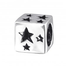 Star - 925 Sterling Silver Beads without stones A4S2170