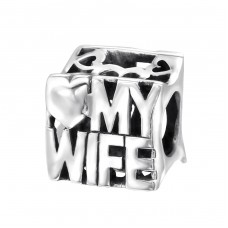Love My Wife - 925 Sterling Silver Beads without stones A4S21760
