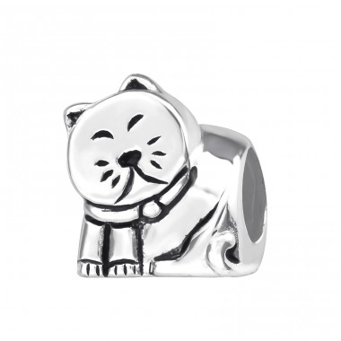 Cat - 925 Sterling Silver Beads without stones A4S22698