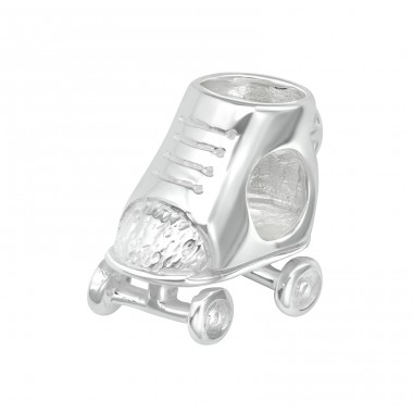 Skate - 925 Sterling Silver Beads without stones A4S22701