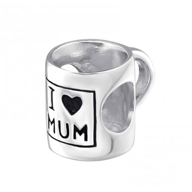 I Love Mum - 925 Sterling Silver Beads without stones A4S22702