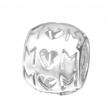 Mom - 925 Sterling Silver Beads without stones A4S22703