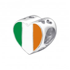 Irish Flag - 925 Sterling Silver Beads without stones A4S22910