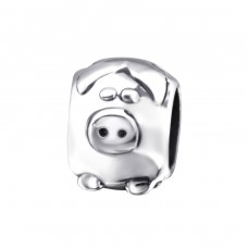 Pig - 925 Sterling Silver Beads without stones A4S23568