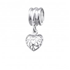 Heart - 925 Sterling Silver Beads without stones A4S23570