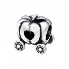 Pumpkin Carriage - 925 Sterling Silver Beads without stones A4S28219