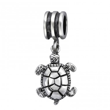 Turtle - 925 Sterling Silver Beads without stones A4S28226