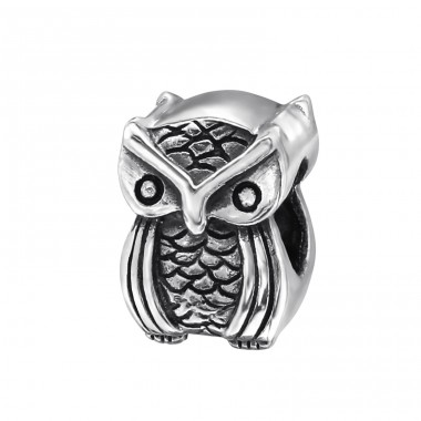 Owl - 925 Sterling Silver Beads without stones A4S2847