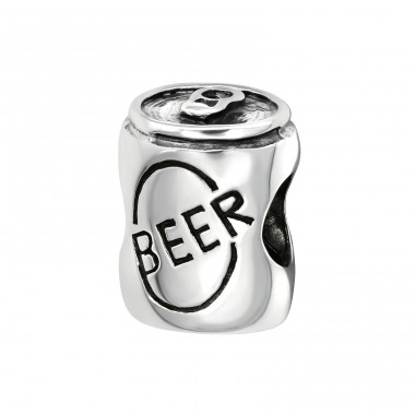Beer Can - 925 Sterling Silver Beads without stones A4S2859