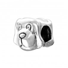 Dog - 925 Sterling Silver Beads without stones A4S2876