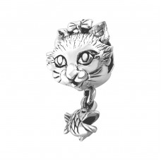 Cat - 925 Sterling Silver Beads without stones A4S2877