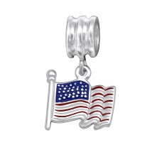 Usa Flag - 925 Sterling Silver Beads without stones A4S28910