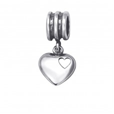 Heart - 925 Sterling Silver Beads without stones A4S28913