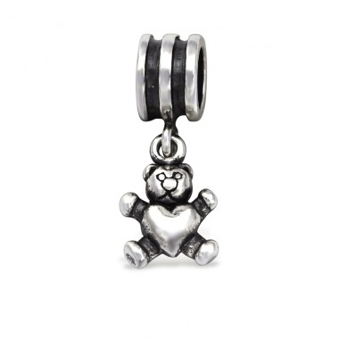 Bear - 925 Sterling Silver Beads without stones A4S28916