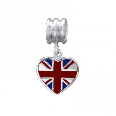 Uk Flag - 925 Sterling Silver Beads without stones A4S29522