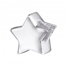 Star - 925 Sterling Silver Beads without stones A4S29523