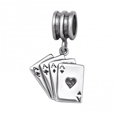 Playing Card - 925 Sterling Silver Beads without stones A4S29547